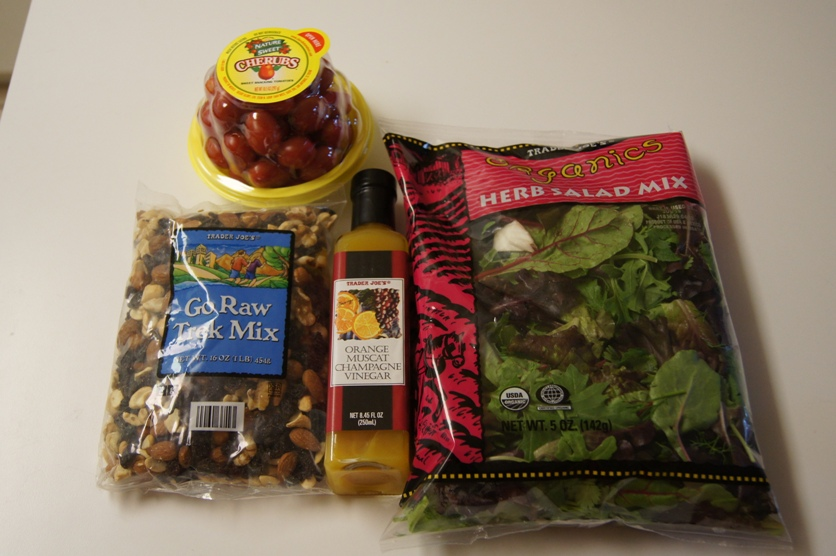 the raw ingredients – mainly from Trader Joe's